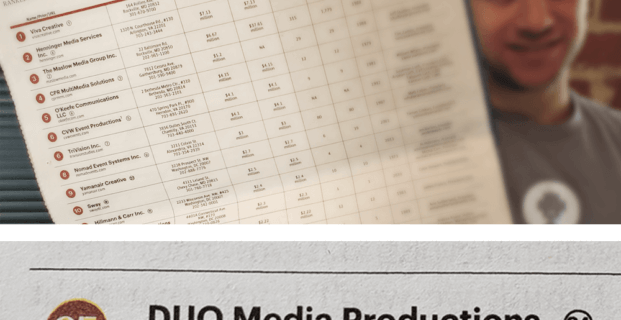 We're A Top 25 Media Production Company!